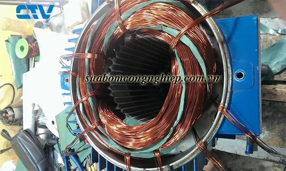 CTV-Quấn động cơ máy bơm công nghiệp tại Hà Nội