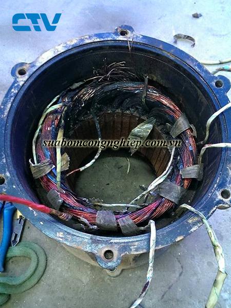 Chi tiết các bước quấn động cơ máy bơm công nghiệp thông thường