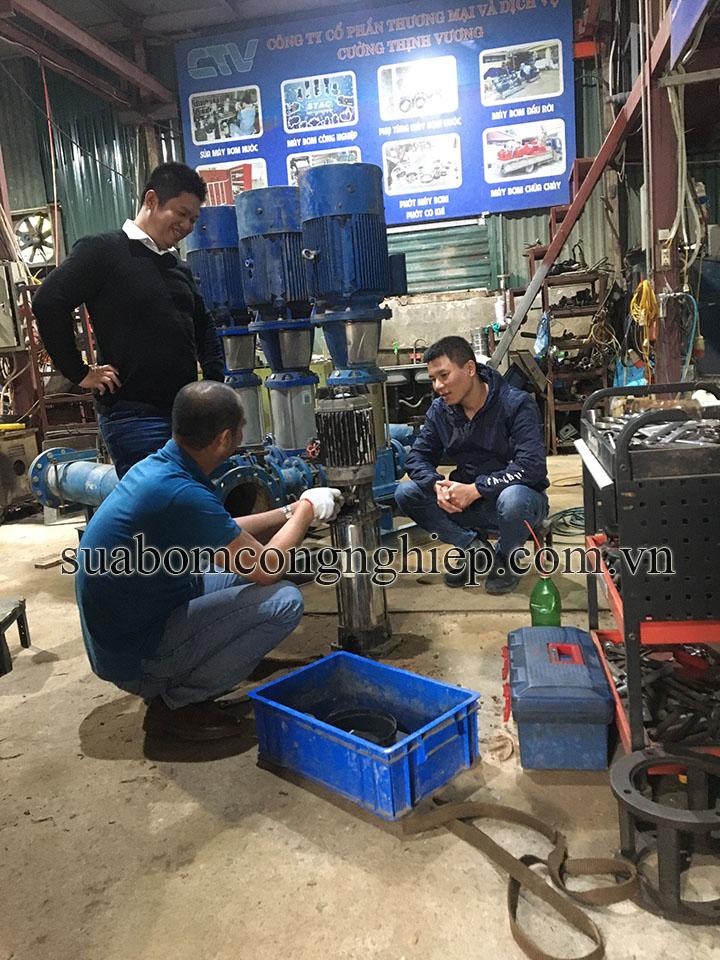 Dịch vụ sửa máy bơm trục đứng tại các chung cư - Hà Nội