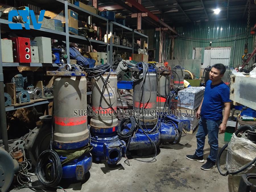 Sửa chữa máy bơm chìm nước thải KSB bị hỏng phớt